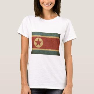 Bandeira da Coreia do Norte do vintage Camiseta