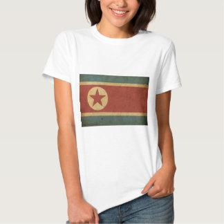 Bandeira da Coreia do Norte do vintage Tshirt