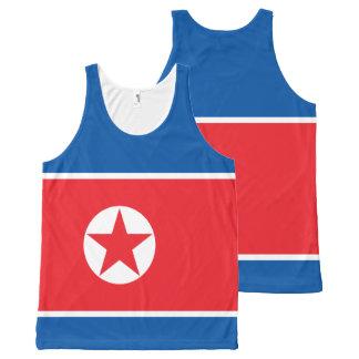 Bandeira da Coreia do Norte Regata Com Estampa Completa
