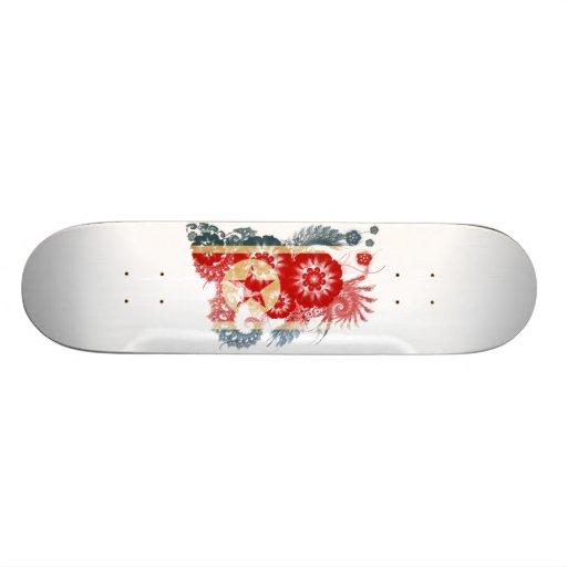 Bandeira da Coreia do Norte Skate Personalizado