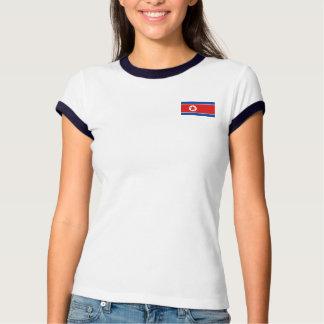 Bandeira da Coreia do Norte + T-shirt do mapa