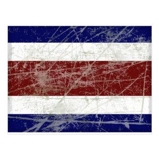 Bandeira da Costa Rica Cartão Postal