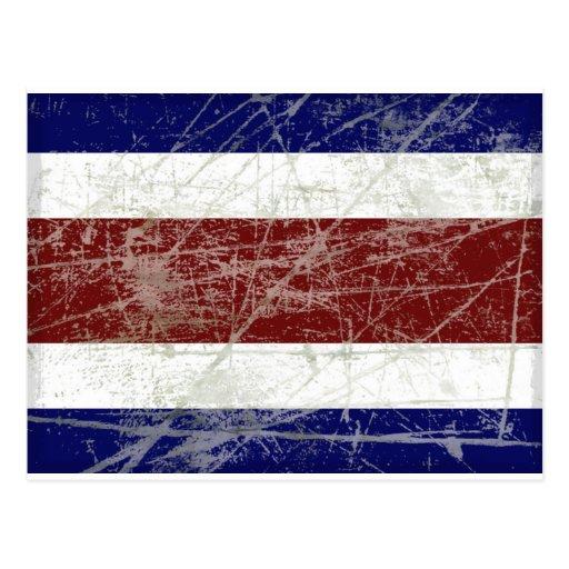 Bandeira da Costa Rica Cartoes Postais