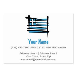 Bandeira da escova da piscina cartão de visita grande