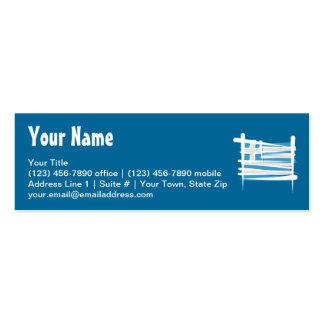 Bandeira da escova da piscina cartão de visita skinny