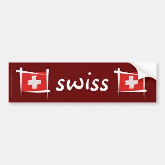 Bandeira da escova da suiça adesivo