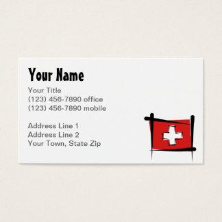 Bandeira da escova da suiça cartão de visitas