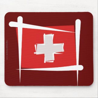 Bandeira da escova da suiça mouse pad