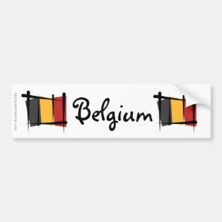 Bandeira da escova de Bélgica Adesivo Para Carro