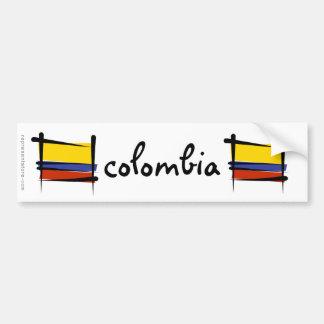 Bandeira da escova de Colômbia Adesivo Para Carro