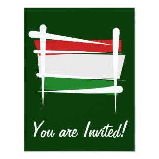 Bandeira da escova de Hungria