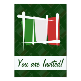 Bandeira da escova de Italia Convite 12.7 X 17.78cm