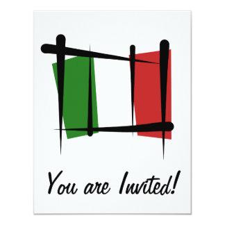 Bandeira da escova de Italia Convite 10.79 X 13.97cm