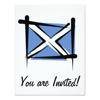 Bandeira da escova de Scotland Convite 10.79 X 13.97cm