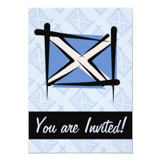 Bandeira da escova de Scotland Convite 12.7 X 17.78cm