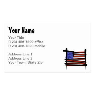 Bandeira da escova dos Estados Unidos Cartão De Visita