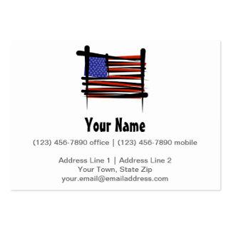 Bandeira da escova dos Estados Unidos Cartão De Visita Grande