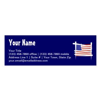 Bandeira da escova dos Estados Unidos Cartão De Visita Skinny