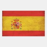 Bandeira da espanha adesivo em forma retangular