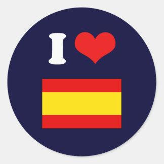 Bandeira da espanha adesivos em formato redondos