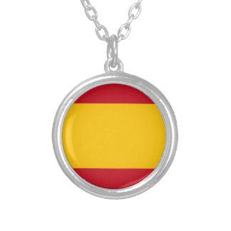Bandeira da espanha, Bandera de España, bandera Colar Banhado A Prata