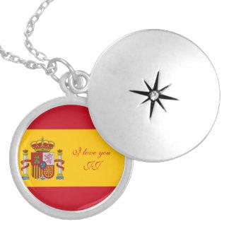 Bandeira da espanha - Bandera de Espana Colar Medalhão
