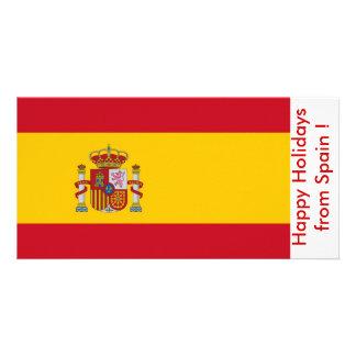 Bandeira da espanha, boas festas da espanha cartão com foto