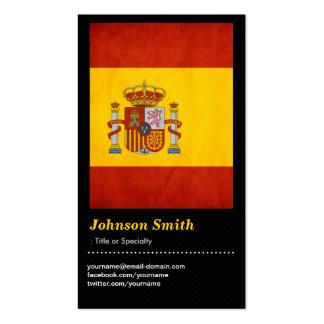 Bandeira da espanha do Grunge do vintage - Bandera Modelo Cartao De Visita
