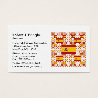 Bandeira da espanha em camadas coloridas múltiplas cartão de visitas