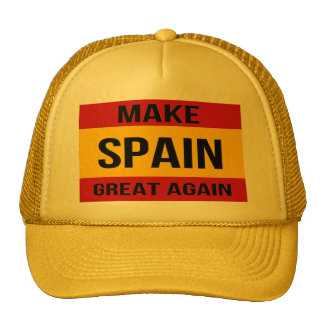 Bandeira da espanha - faça o excelente da espanha boné