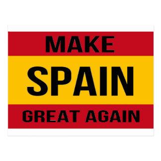 Bandeira da espanha - faça o excelente da espanha cartão postal