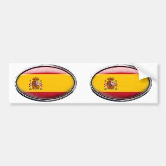 Bandeira da espanha no Oval de vidro Adesivo Para Carro