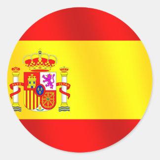Bandeira da espanha para espanhóis no mundo inteir adesivo redondo