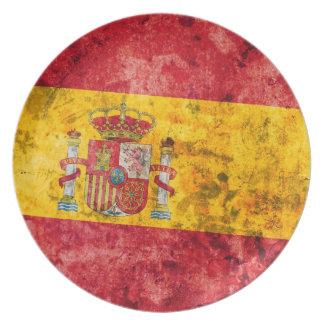 Bandeira da espanha pratos de festas