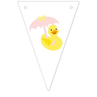 Bandeira da estamenha do rosa do chá de fraldas da