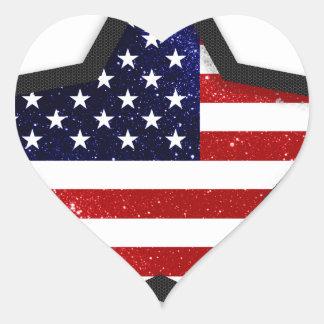 Bandeira da estrela adesivo coração
