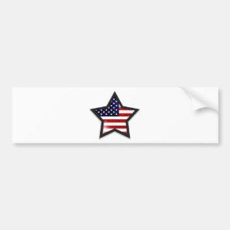 Bandeira da estrela adesivo para carro