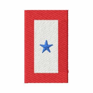 Bandeira da estrela azul (que serve o serviço camiseta bordada polo