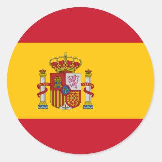 Bandeira da etiqueta da espanha adesivo