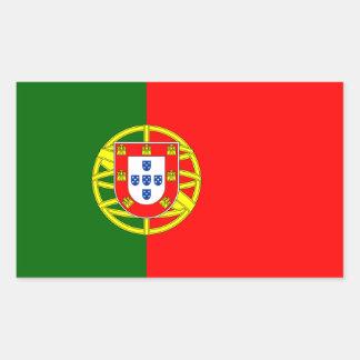Bandeira da etiqueta de Portugal Adesivo Retangular
