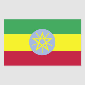 Bandeira da etiqueta do decalque de Etiópia Adesivo Retangular