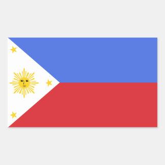 Bandeira da etiqueta do decalque de Filipinas Adesivo Retangular