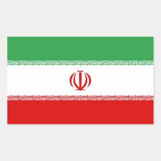 Bandeira da etiqueta do decalque de Irã Adesivo Retangular