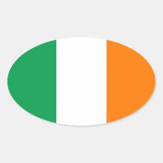 Bandeira da etiqueta do Oval de Ireland
