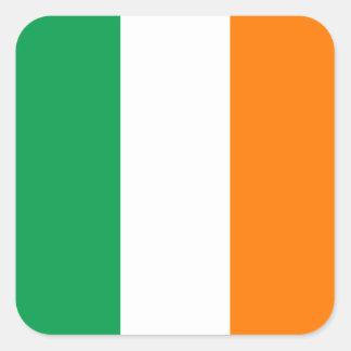 Bandeira da etiqueta quadrada de Ireland