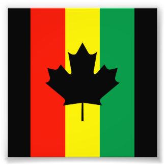 Bandeira da folha de bordo da reggae de Rasta Impressão De Foto