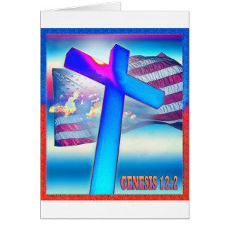Bandeira da génese cartão comemorativo