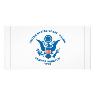 Bandeira da guarda costeira cartao com fotos
