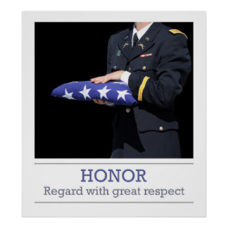 Bandeira da honra impressão