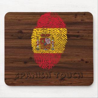 Bandeira da impressão digital do toque do espanhol mousepad